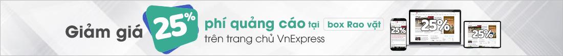 Giảm 25% phí quảng cáo ở box Rao Vặt tại trang chủ VnExpress.net